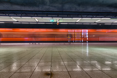 Metro Station Ruoholahti Gräsviken (pni) Tags: metro car longexposure station human people person being lamp floor motion blur ruoholahti gräsviken helsinki helsingfors finland suomi pekkanikrus skrubu pni