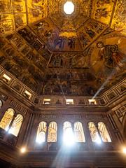 Inside the Baptistery (Feldore) Tags: florence baptistery christ sun rays shining intense dan brown ancient medieval feldore mchugh em1 olympus 1240mm