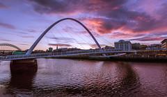 Sun Going Doon In The Toon (ianpaterson1) Tags: sunset nikon newcastle bridge quayside