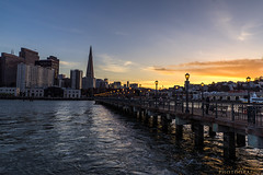 DSC3636 (Mypoorbrain) Tags: california embarcadero estadosunidos geo:lat=3779998468 geo:lon=12239431500 geotagged sanfrancisco usa urbanskyline cityscape sunset skyscraper night urbanscene architecture downtowndistrict dusk famousplace city river bridgemanmadestructure reflection water sky outdoors builtstructure pier transamerica