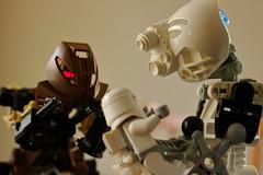 The New Arrival (Toa Slim 2014) Tags: lego bionicle kopaka pohatu toa mata toy toyphotography photography minifig stormtrooper
