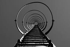 Ladder above (ReppiX) Tags: lost place blackandwhite ladder old bw lostplace symmetrie geometrisch linien architektur urbex