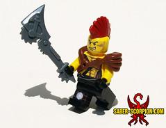 Rip and tear!!! (Saber-Scorpion) Tags: lego minifigures fallout borderlands brickforge brickwarriors postapocalyptic postapoc raider outland ripper