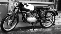 1957 Gilera 125 Sport (fe2cruz) Tags: black blackwhite blackandwhite closet monochrome white motorcycle motorbike 1957 500cc grandprix gp motogilera gilera 57 wirewheels spokes