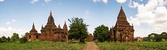 Caminos (Nebelkuss) Tags: myanmar bagán asia birmania burma camino track nubes clouds templo temple panoramicas panoramics paisaje landscape fujixt1 fujinonxf1855