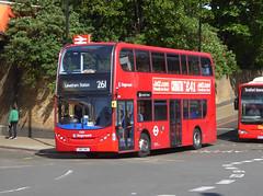 SLN 10188 - SN63NBJ - LEWISHAM STATION - FRI 11TH MAY 2018 (Bexleybus) Tags: stagecoach london adl dennis enviro 400 lewisham station dlr train shopping centre tfl route 261 10188 sn63nbj