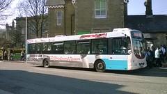 Rosso 1603 (YN05GXV) 19042018 (Rossendalian2013) Tags: transdevblazefield transdev rossendaletransport rosso bus rawtenstall scania l94ub wright solar yn05gxv readingbuses