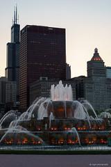 Buckingham Fountain (dpsager) Tags: buckingham chicago dpsagerphotography grantpark illinois lakefront skyline fountain