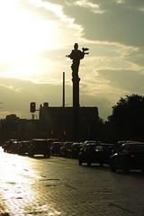 Sofia - Statue of St. Sofia (lyura183) Tags: bulgaria българия sofia софия sun sunset backlight statue car