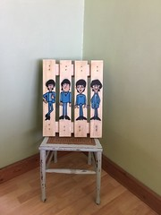 Newly finished piece I've been working on, stencils applied to an old reclaimed mini pallet (470x360mm) (unlucky_gambler_lost) Tags: animatedbeatles upcycling reclaimed street urban spraypaint stencilart stencil thebeatles