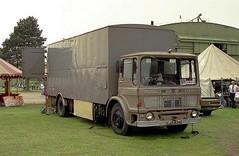 AEC, CJX 434C (ergomammoth) Tags: lorry lorries truck trucks hgv commercialvehicle boxvan aec aecmercury av505 ergomatic tiltcab aecltdsouthall fairgroundtransport showmanstransport showmansspecial roadtransport amusements fairground