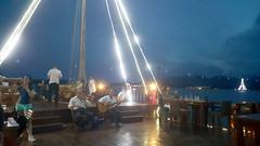 Music in the night (Roving I) Tags: music musicians entertainment boats cruises emperorcruises timber wood decks evening rigging masts travel leisure lifestyle tourism mice nhatrang vietnam violins guitars