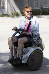 Sit-down Segway (Steffe) Tags: segway woman sitdownsegway canon77d sigma105mm