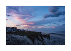 Sunset on the Dunes (prendergasttony) Tags: tonyprendergast nikon dunes sand florida jacksonville atlantic america clouds blue pink homes houses