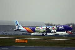 Flybe G-FBEM J78A1401 (M0JRA) Tags: flybe gfbem manchester airport planes flying jets biz aircraft pilot sky clouds runways