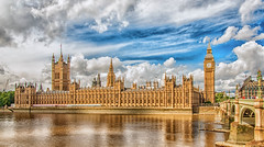 Houses Of Parliament (Scottmh) Tags: 2013 europe kingdom london d60 holiday nikon travel united thames river water bridge westminster clouds reflection architecture city building sky