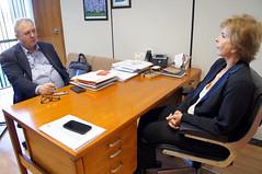 23/05/18 - Visita do coordenador Geral do Jornal Opinião e radialista da Rádio Encantado, Milton Fernando Weissenmann.