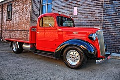 Camden's red Chev. (Ian Ramsay Photographics) Tags: camden newsouthwales australia red chev
