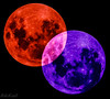 Moons in Mutual Ecllipse and Embrace! (Raphael de Kadt) Tags: moon eclipse abstract wedding embrace doubleexposure spheres lunar astrophotography johannesburg marriage fujinonxf100400wrois fujifilmxt2 fujifilm fujinon gauteng