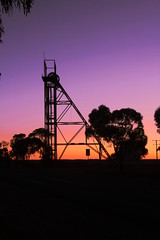 processed headframe (thrift2012) Tags: sunset mining brokenhill outback nsw bhp silhouette