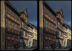 Truss front 3-D / CrossView / Stereoscopy / HDRaw (Stereotron) Tags: sachsenanhalt saxonyanhalt ostfalen harz mountains gebirge ostfalia hardt hart hercynia harzgau quedlinburg fachwerk halftimbered house stud work antiquated ancient medieval middleages crosseye crossview xview pair freeview sidebyside sbs kreuzblick 3d 3dphoto 3dstereo 3rddimension spatial stereo stereo3d stereophoto stereophotography stereoscopic stereoscopy stereotron threedimensional stereoview stereophotomaker stereophotograph 3dpicture 3dimage hyperstereo canon eos 550d chacha singlelens kitlens 1855mm tonemapping hdr hdri raw