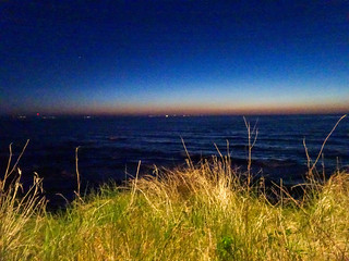 North Sea from the Pends at night, 2018 May 01