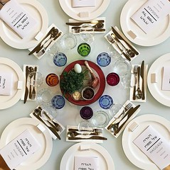 Seder table (ekelly80) Tags: dc washingtondc april2018 spring passover seder table view overhead beautiful holiday dinner plates friends