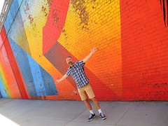 Brooklyn mural and me (kenjet) Tags: city nyc ny newyork newyorkcity kenny ken kenjet self me wall mural color colorful brooklyn paint