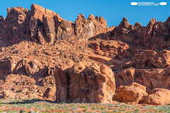 Valley Of Fire Rock Formations 9 (freshairphoto) Tags: valleyoffire red rock formation boulder blue sky desert state park overton nevada artspearing nikon d500 1680 zoom handheld