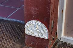 Herrin, IL plaque (Christopher Elliot Taylor) Tags: storefront bonuscontent plaque ironworks architecture column outdoors travel tourism americana mainstreetusa smalltowns historic canont1i affinityphoto