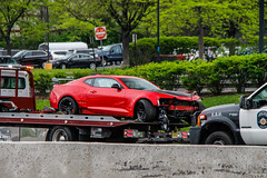 2017 Chevrolet Camaro ZL1 1LE (Rivitography) Tags: 2017 chevrolet camaro zl1 1le red american muscle car gm generalmotors wrecked crashed paramus newjersey 2018 canon rebel t3 adobe lightroom rivitography