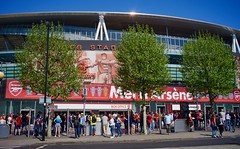 Merci Arsène.  Wenger's last Arsenal home game at the Emirates, Stadium, Holloway, London, May 2018 (sbally1) Tags: arsenalfc arsenal football arsenewenger wenger northlondon london epl premierleague stadium