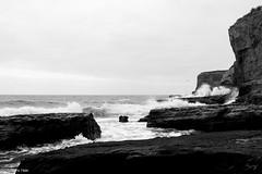 Grey Cast Coast (Hale.M) Tags: nikon nikond750 landscape landscapephotography landscapes nature naturephotography natural coast beach water ocean oceanphotography waves cliffs outdoors california blackandwhite blackandwhitephotography