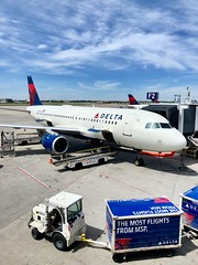The View From MSP (Brisan) Tags: sky blue sunny travel tarmac minnesota stpaul minneapolis airport msp gate jet a320 airbus airline delta
