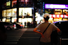 1844/1802 (june1777) Tags: snap street seoul night light bokeh canon eos 5d nikon nikkor 50mm f12 ai 800 clear