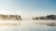 'Ice Free' (Canadapt) Tags: lake fog mist morning sunrise keefer canadapt reflection