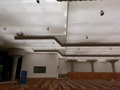 2018-05-FL-184982 (acme london) Tags: auditorium columns concrete jamesstirling lighting mushroom staatsgalerie stuttgart suspendedceiling
