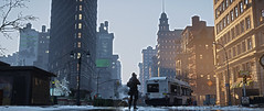 City in Danger (Inter230407) Tags: thedivision tomclancy ubisoft 2016 2017 screenshot pc 219 emotes agent hunter mask new york time square massive photomode 18 2018 shade isac cinematic cinematictools hattiwatti art videogame brooklyn bridge watch pistol sunrise sunset night strada cielo neve persone edificio lightning effects flag usa division christmas danger city