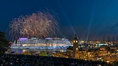Hamburg Firework (andreasmally) Tags: hamburg firework schiff aida ship germany deutschland wasser water