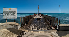 Protaras, Cyprus. (CWhatPhotos) Tags: cwhatphotos waters man male 2018 april digital camera pictures picture image images photo photos foto fotos that have which contain olympus seafront golden coast beach blue sky skies sunny day holiday cyprus eastern protaras water sea deep color colour 43 micro four thirds penf pier walk walkway