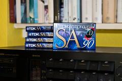 Cassette Culture #25: SA-90s (The_Kevster) Tags: cassette tape analogue retro music recording nakamichi dragon tapedeck nikon dslr nikond3300 tdk sa c90 blank sealed media