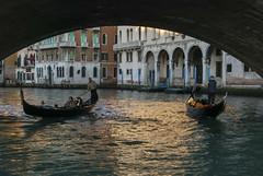 Evening Light (Rudi Pauwels) Tags: italy italia italien venezia venedig venice gondola bridge canal grancanal eveninglight nikon d80 nikond80