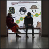 P1240352-1 - Visitors (dangle earrings) Tags: visitors seat poster royalarmouries leeds dangleearings panasonicdmcgx8