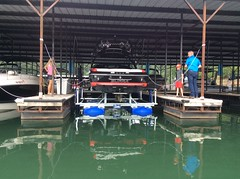 6600 UL2, 23ft Supra on a HydroHoist Boat Lift