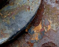 Rust. (jenichesney57) Tags: rust nz wheel industrial panasoniclumix brown erosion colour auckland