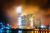 Illuminated Office Blocks And Apartments Overlooking Kowloon Harbour, Hong Kong (Peter Greenway) Tags: hongkong harbour hk kowloon nightphotography offices nighttime skyscrapers nightlights urban officeblocks water illuminated flickr skyline reflection night