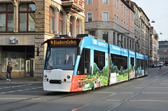 Erfurt, Bahnhofstraße 14.10.2016 (The STB) Tags: tram tramway strassenbahn strasenbahn publictransport streetcar citytransport öpnv erfurt deutschland germany