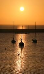 Brixham sunrise silhouette (Steve M Photography) Tags: brixham devon sunrise dawn earlymorning seascape seaside boats harbour port sun orangesky ocean sea silhouette holiday resort destination