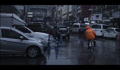 自転車 (Pornthep Pongpiboonphol) Tags: rain alone lonely portrait cinematic movie scene street streetphotography streetphoto dramatic candid snapshot behindthescene still film canon filmstill moviestill contrast art shadow light bicycle bike