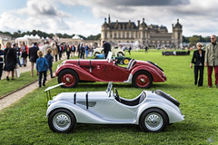 BMW 328 real & toy (vapi photographie) Tags: chantilly concours castle car show exotic spotting bmw 328 classic toy miniature real